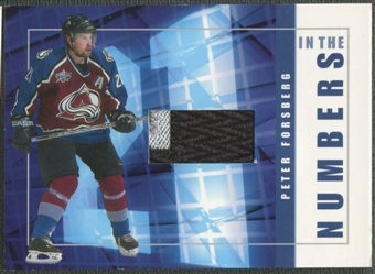 2001/02 BAP Signature Series #ITN14 Peter Forsberg In The Numbers Patch /10