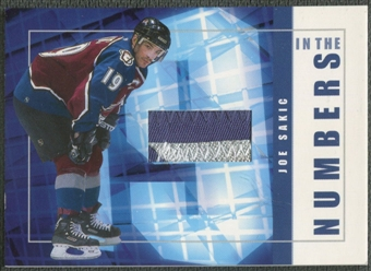 2001/02 BAP Signature Series #ITN15 Joe Sakic In The Numbers Patch /10
