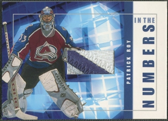 2001/02 BAP Signature Series #ITN16 Patrick Roy In The Numbers Patch /10