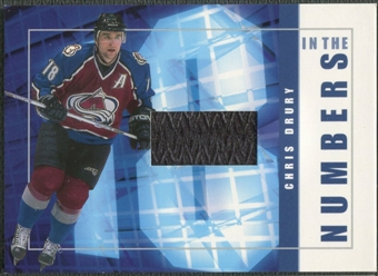 2001/02 BAP Signature Series #ITN17 Chris Drury In The Numbers Patch /10