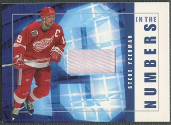 2001/02 BAP Signature Series #ITN22 Steve Yzerman In The Numbers Patch /10