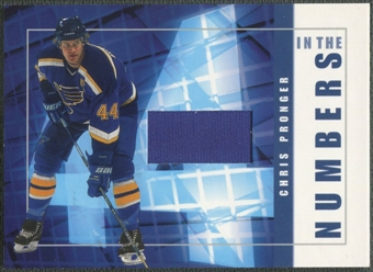 2001/02 BAP Signature Series #ITN23 Chris Pronger In The Numbers Patch /10