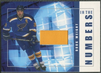 2001/02 BAP Signature Series #ITN25 Doug Weight In The Numbers Patch /10