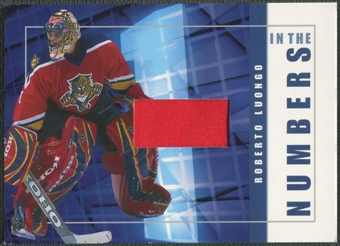 2001/02 BAP Signature Series #ITN27 Roberto Luongo In The Numbers Patch /10