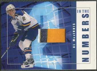 2001/02 BAP Signature Series #ITN28 Al MacInnis In The Numbers Patch /10