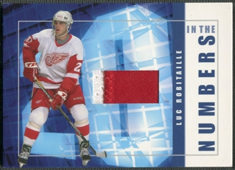 2001/02 BAP Signature Series #ITN30 Luc Robitaille In The Numbers Patch /10