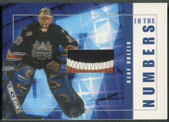 2001/02 BAP Signature Series #ITN31 Olaf Kolzig In The Numbers Patch /10
