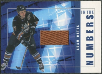 2001/02 BAP Signature Series #ITN33 Adam Oates In The Numbers Patch /10