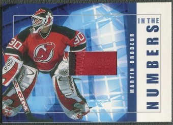 2001/02 BAP Signature Series #ITN34 Martin Brodeur In The Numbers Patch /10