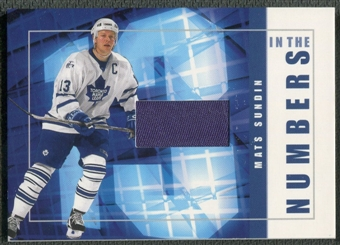 2001/02 BAP Signature Series #ITN40 Mats Sundin In The Numbers Patch /10