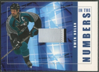 2001/02 BAP Signature Series #ITN41 Owen Nolan In The Numbers Patch /10