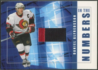 2001/02 BAP Signature Series #ITN44 Daniel Alfredsson In The Numbers Patch /10