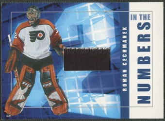 2001/02 BAP Signature Series #ITN46 Roman Cechmanek In The Numbers Patch /10