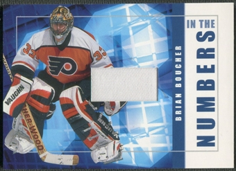 2001/02 BAP Signature Series #ITN49 Brian Boucher In The Numbers Patch /10