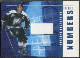 2001/02 BAP Signature Series #ITN50 Vincent Lecavalier In The Numbers Patch /10