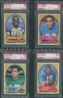 1970 Topps Football Complete Set (NM) With 4 PSA Graded Cards