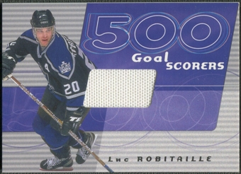 2001/02 BAP Signature Series #11 Luc Robitaille 500 Goal Scorers Jersey /30