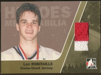 2006/07 ITG Heroes and Prospects #HM01 Luc Robitaille Heroes Memorabilia Gold Jersey /10