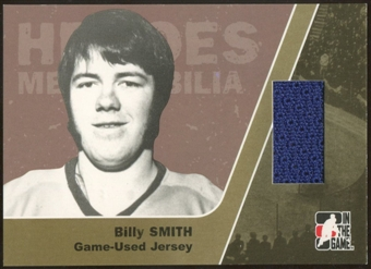 2006/07 ITG Heroes and Prospects #HM02 Billy Smith Heroes Memorabilia Gold Jersey /10