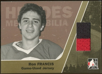 2006/07 ITG Heroes and Prospects #HM04 Ron Francis Heroes Memorabilia Gold Jersey /10