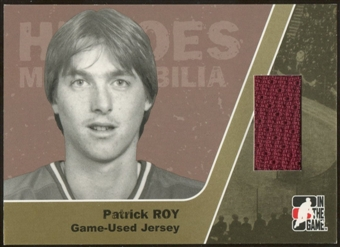 2006/07 ITG Heroes and Prospects #HM06 Patrick Roy Heroes Memorabilia Gold Jersey /10