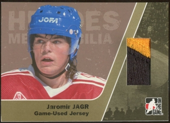 2006/07 ITG Heroes and Prospects #HM07 Jaromir Jagr Heroes Memorabilia Gold Jersey /10