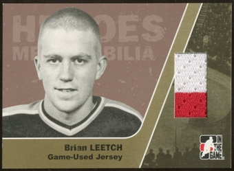 2006/07 ITG Heroes and Prospects #HM09 Brian Leetch Heroes Memorabilia Gold Jersey /10