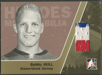 2006/07 ITG Heroes and Prospects #HM13 Bobby Hull Heroes Memorabilia Gold Jersey /10