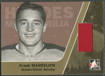 2006/07 ITG Heroes and Prospects #HM14 Frank Mahovlich Heroes Memorabilia Gold Jersey /10