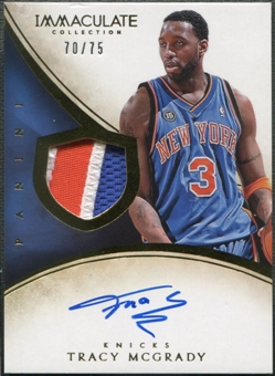 2013/14 Immaculate Collection #174 Tracy McGrady Patch Auto #70/75