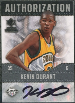 2008/09 SP Rookie Threads #AUKD Kevin Durant Authorization Auto