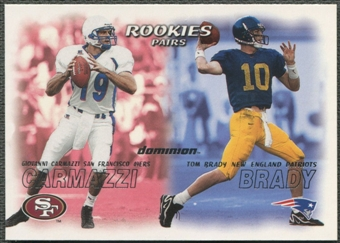 2000 SkyBox Dominion #234 Tom Brady & Giovanni Carmazzi Rookie