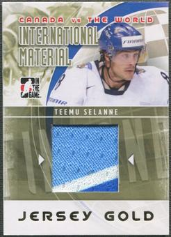 2011/12 ITG Canada vs The World #IM20 Teemu Selanne International Materials Gold Jersey /10