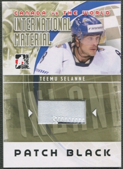 2011/12 ITG Canada vs The World #IM20 Teemu Selanne International Materials Black Patch /6