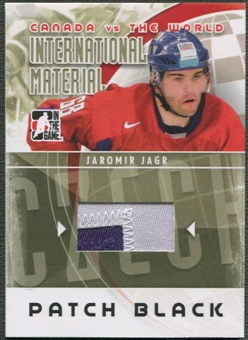 2011/12 ITG Canada vs The World #IM25 Jaromir Jagr International Materials Black Patch /6