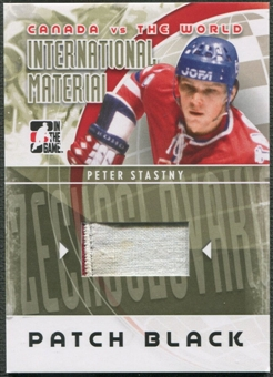 2011/12 ITG Canada vs The World #IM38 Peter Stastny International Materials Black Patch /6