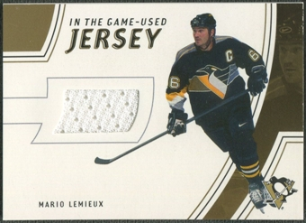2002/03 In The Game-Used #GUJ1 Mario Lemieux Gold Jersey /10