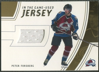 2002/03 In The Game-Used #GUJ3 Peter Forsberg Gold Jersey /10