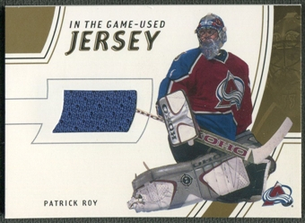 2002/03 In The Game-Used #GUJ4 Patrick Roy Gold Jersey /10