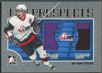 2006/07 ITG Heroes and Prospects #TP11 Jordan Staal CHL Top Prospects Jersey Patch /100