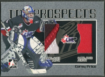 2006/07 ITG Heroes and Prospects #TP16 Carey Price CHL Top Prospects Jersey Patch /100