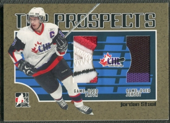 2006/07 ITG Heroes and Prospects #TP11 Jordan Staal CHL Top Prospects Gold Jersey Patch /10