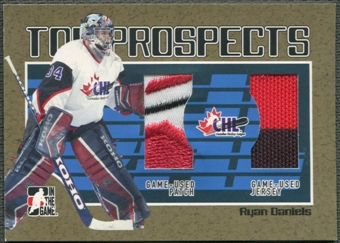 2006/07 ITG Heroes and Prospects #TP13 Ryan Daniels CHL Top Prospects Gold Jersey Patch /10