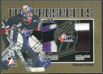 2006/07 ITG Heroes and Prospects #TP16 Carey Price CHL Top Prospects Gold Jersey Patch /10