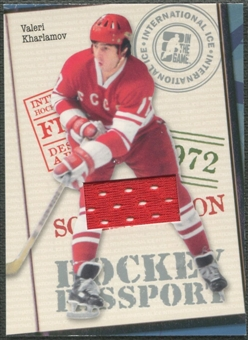 2006/07 ITG International Ice #HP03 Valeri Kharlamov Passport Jersey /60
