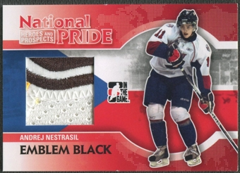 2010/11 ITG Heroes and Prospects #NATP01 Andrej Nestrasil National Pride Black Emblem /6