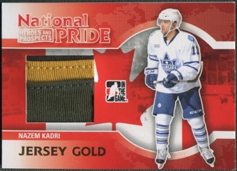2010/11 ITG Heroes and Prospects #NATP06 Nazem Kadri National Pride Gold Jersey /10