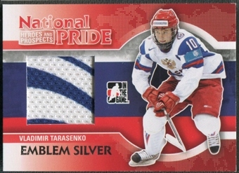2010/11 ITG Heroes and Prospects #NATP10 Vladimir Tarasenko National Pride Silver Emblem /3