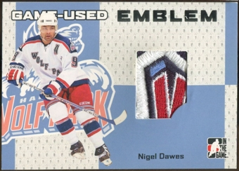 2006/07 ITG Heroes and Prospects #GUE06 Nigel Dawes Game-Used Emblem /30