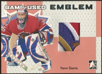 2006/07 ITG Heroes and Prospects #GUE10 Yann Danis Game-Used Emblem /30